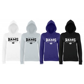 Yorkshire Academy Rams - Ladies Fit Custom Ball 2 Logo Hoodie