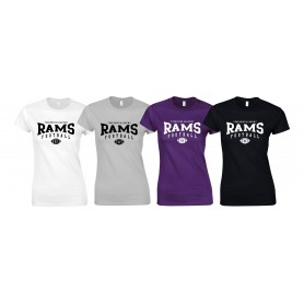 Yorkshire Academy Rams - Women's Fit Custom Ball 2 Logo T Shirt