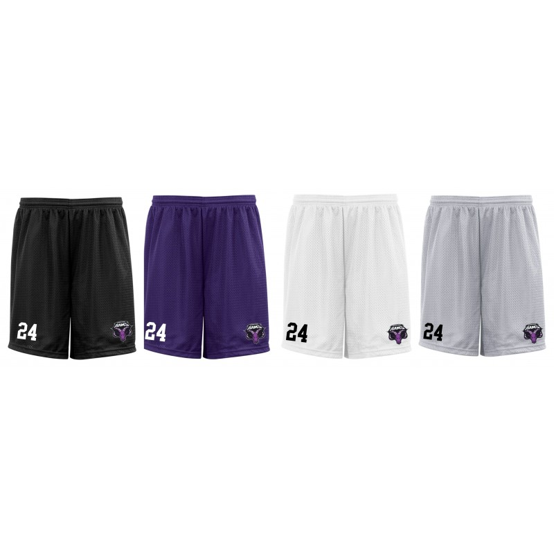 Yorkshire Academy Rams - Custom Embroidered Mesh Shorts