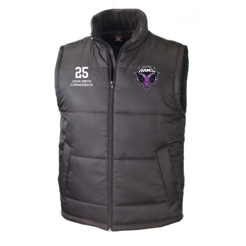 Yorkshire Academy Rams - Customised Embroidered Bodywarmer