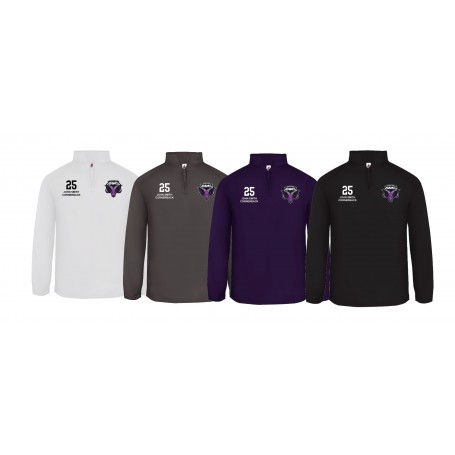 Yorkshire Academy Rams - Custom Embroidered 1/4 Zip Poly Fleece Pullover