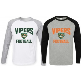 Sheffield Vipers - Men's Raglan Sleeve Contrast T Shirt