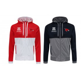 Kent Falcons - Customised Embroidered Retro Track Zip Hoodie