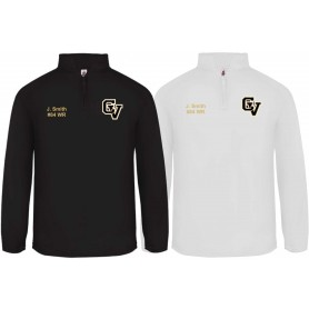 Clyde Valley Hawks - Embroidered 1/4 Zip Poly Fleece Pullover