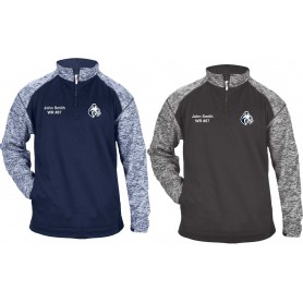 BU Bobcats - Embroidered Tonal Blend Sport Quarter Zip