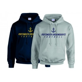 Portsmouth Dreadnoughts Women - Anchor Text 1 Logo Hoodie