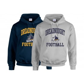 Portsmouth Dreadnoughts Women - Ship Football Logo Hoodie