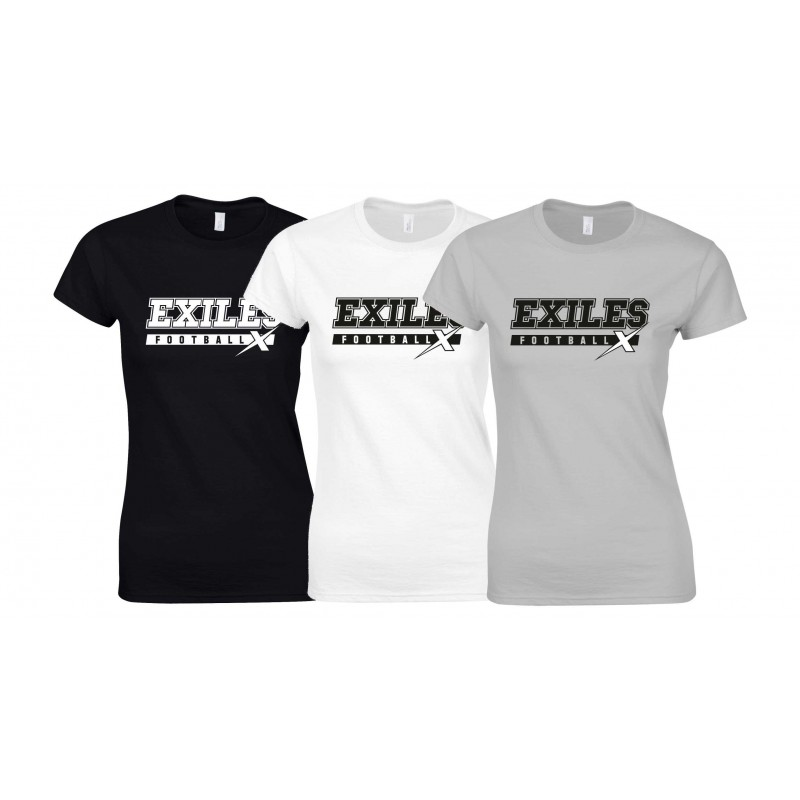 Kent Exiles - Campus Text Logo Women's Fit T Shirt