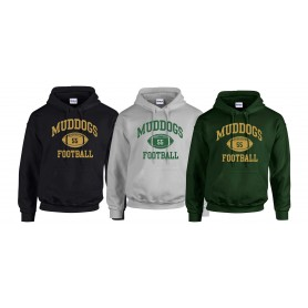 Bangor Mud Dogs - Custom Ball Logo Hoodie 1