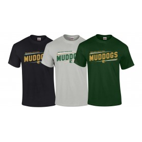 Bangor Mud Dogs - Slanted Text Logo T-Shirt