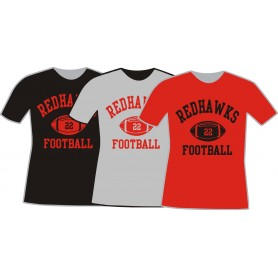 Solent Redhawks - Custom Ball Logo T-Shirt 1