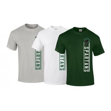 AFC Spartans - Vertical Text Logo T-Shirt