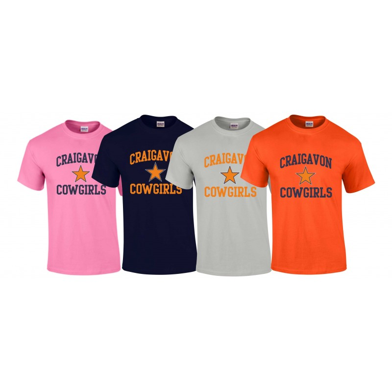 Craigavon Cowboys - Cowgirls Football Logo T Shirt
