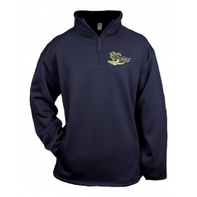 UEA Pirates - Embroidered Poly Fleece 1/4 Zip Pullover