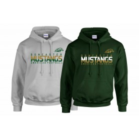 Doncaster Mustangs - Athletic Split Text Logo Hoodie