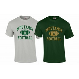 Doncaster Mustangs - Custom Ball Logo 1 T-Shirt