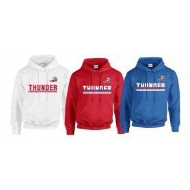 Sussex Thunder - Athletic Split Text Logo Hoodie