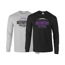 Portsmouth Destroyers - Laces Logo Long Sleeve T Shirt