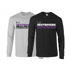 Portsmouth Destroyers - Athletic Split Text Long Sleeve T Shirt