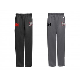 City Wolfpack - Embroidered Badger Open Bottom Joggers