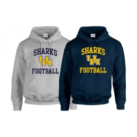 UH Sharks - Text Logo Hoodie 2
