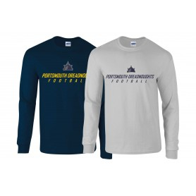Portsmouth Dreadnoughts - Ship Text 1 Long Sleeve T Shirt