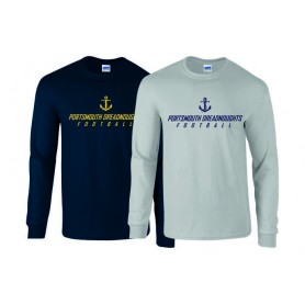 Portsmouth Dreadnoughts - Anchor Text Long Sleeve T Shirt