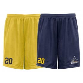 Portsmouth Dreadnoughts - Custom Ship Logo Embroidered Mesh Shorts