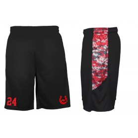 Staffs Stallions - Embroidered Pocketed Digital Panel Shorts