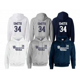 Worcester Royals - customised Club Text Logo Hoodie