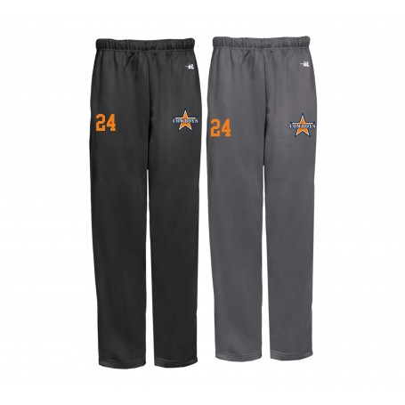 Craigavon Cowboys - Embroidered Badger Open Bottom Joggers