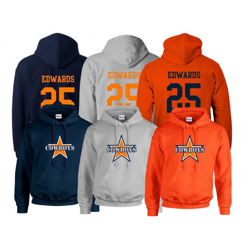 Craigavon Cowboys - Full Logo And Number Hoodie