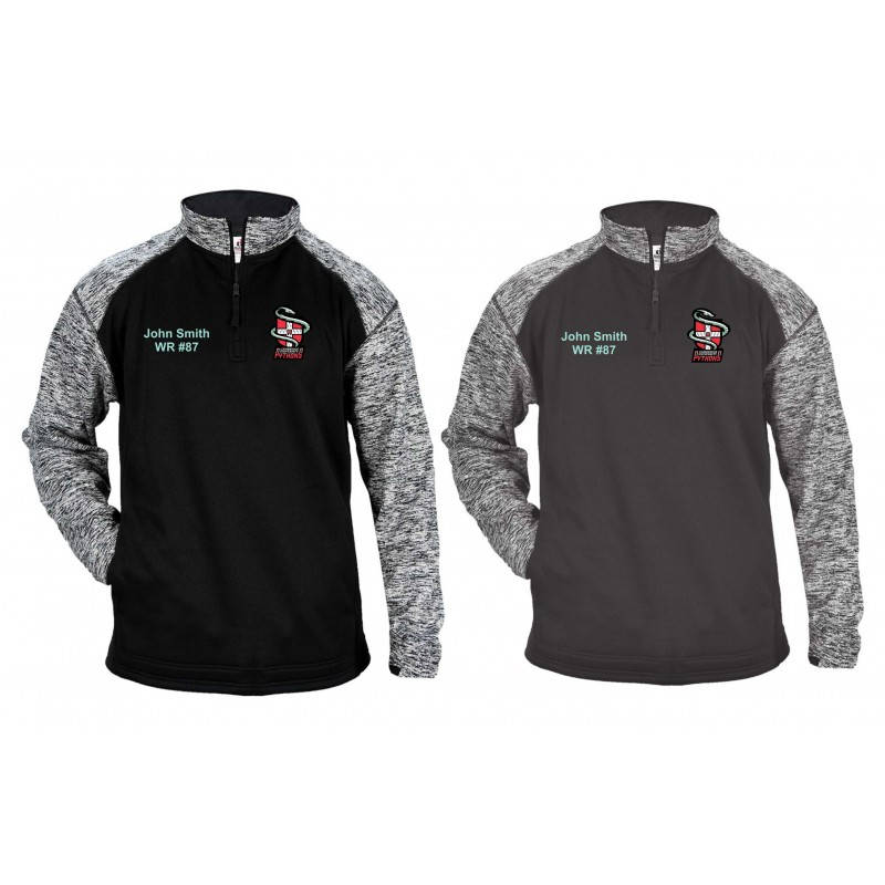 Cambridge Pythons - Customised Embroidered Tonal Blend Sport Quarter Zip