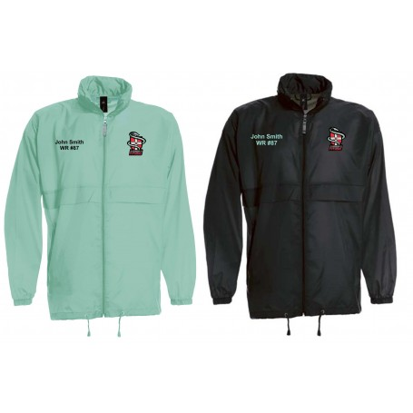Cambridge Pythons - Customised Embroidered Lightweight Rain Jacket