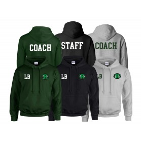 Jurassic Coast Raptors - Print and Embroidered Coach or Staff Hoodie